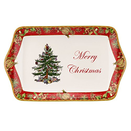 Spode Christmas Tree Annual Edition 2015 Dessert Tray, Multicolor Spode Christmas Tree Annual