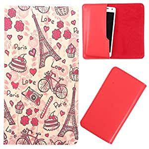 DooDa - For Spice Coolpad (MI-515) PU Leather Designer Fashionable Fancy Case Cover Pouch With Smooth Inner Velvet