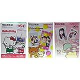 Fujifilm Instax Mini Hello Kitty, Rilakkuma and Little Twin Stars Instant Films, 10 Sheets, Pack of 3