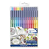 Staedtler 26 Triplus Fiber-Tip Color Pens for Adults - Johanna Basford Adult Coloring Edition
