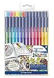 Staedtler Felt-Tip Pens Triplus Colour, Exclusive Johanna Basford Edition - Assorted Colours, Set of 26