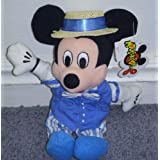 "Disney Quartet Mickey Mouse 9"" Plush Bean Bag Doll"