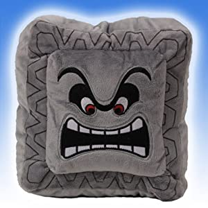 "Super Mario Bros Thwomp Dossun 8"" Plush Doll Toy Cushion Pillow New/with Tag"