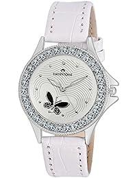 Swisstone VOGLR501-WHITE White Dial White Strap Analog Wrist Watch For Women/Girls