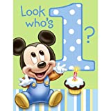 Hallmark Mickey's 1st Birthday Invitations - 8 ct