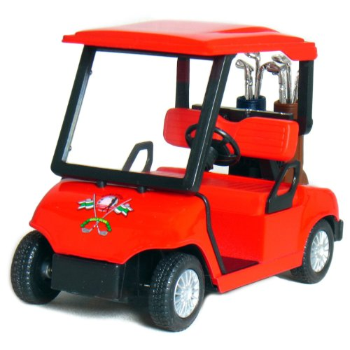 "4½"" Die-cast Metal Golf Cart Model (Red)"