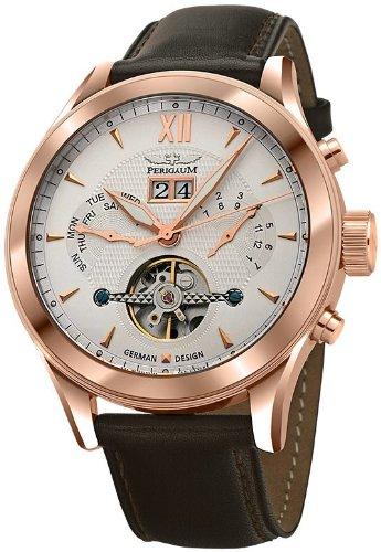Perigaum 1972 Automatic Reloj elegante para hombres Volante Abierta