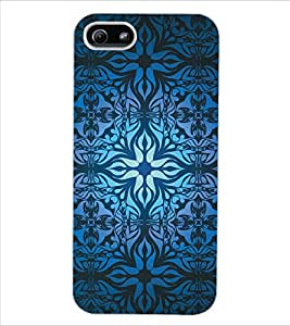 ColourCraft Beautiful Pattern Design Back Case Cover for APPLE IPHONE 5S