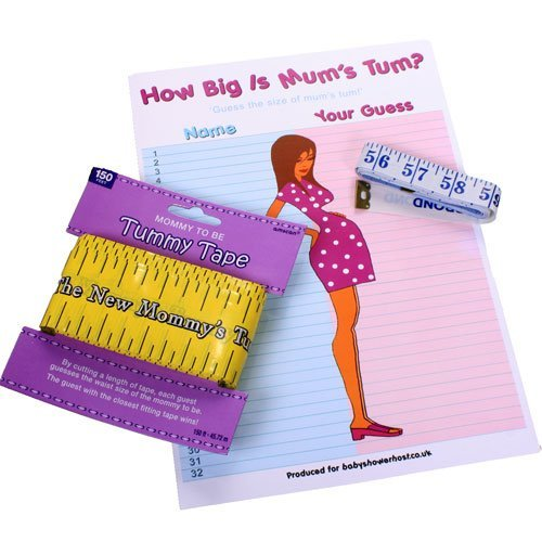 baby-shower-tummy-garland-game-how-big-is-mums-tum-150-ft-fee-delivery