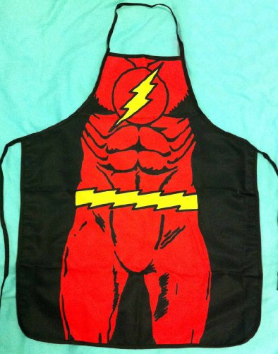 [Follow918 The Flash Hero Aprons Fashion Personality Kitchen Aprons Funny Tricky Cooking Aprons for Male & Female Anime Cosplay Aprons Boyfriend/Girlfriend] (Male Costumes Rocky Horror)