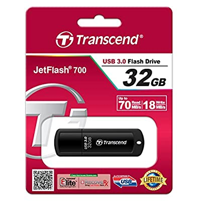 Transcend 32GB JetFlash 700 Super Speed USB 3.0 Pen Drive (Black)