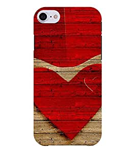 Chiraiyaa Designer Printed Premium Back Cover Case for Apple iPhone 7 (heart boy girl friend valentine miss kiss wooden) (Multicolor)