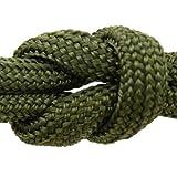 MilSpec Camo Green Paracord. Guaranteed MIL-C-5040H Compliant, Military Survival 550 Parachute Cord, Type III. Made in U.S. 100% Nylon, 600 Lb. Break Strength, Free eBook. 8-Strand, 55 ft. Hank.
