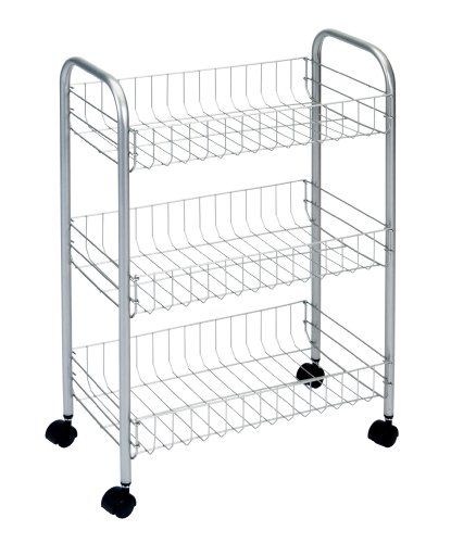 Metaltex Lugano 3-Basket Rolling Cart