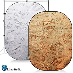 LimoStudio Red & Pearl Photo Video Studio Collapsible Reversible Backdrop Background Panel Disc, AGG1146