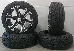 Bundle - 9 items: ITP SS312 Black Golf Wheels 14\