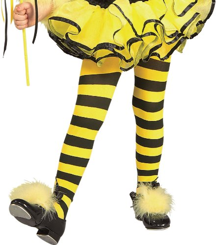 Rubies Striped Child Bumble Bee Tights - 1