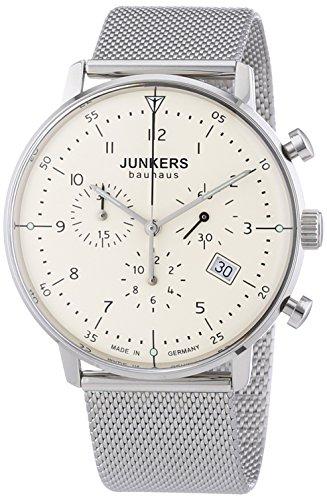 Junkers - Orologio da polso, cronografo al quarzo, acciaio inox