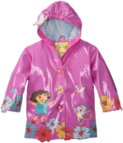 Kidorable Girls 2-6X Dora Coats, Purple, 3T
