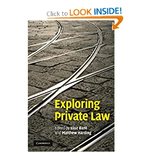 Amazon.com: Exploring Private Law (9780521764353): Elise Bant ...