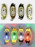 爆釣 水中 LED 集魚灯 ジグ ルアー ヘッド タイプ 自動点灯 水深600m 4色セット