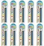 三菱鉛筆 シャープペンシル替芯 カラー芯 ユニ uni 0.5mm 芯色ミントブルー / 10セット