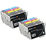 E-Z Ink (TM) Remanufactured Ink Cartridge Replacement For Epson 127 Extra High Yield (4 Black, 2 Cyan, 2 Magenta, 2 Yellow) 10 Pack T127120 T127220 T127320 T127420 Compatible With Stylus NX530, Stylus NX625, WorkForce 3520, WorkForce 635, WorkForce 3530, WorkForce 3540, WorkForce 7010, WorkForce 645, WorkForce 7510, WorkForce 7520, WorkForce 60, WorkForce 840, WorkForce 545, WorkForce 630, WorkForce 633, WorkForce 845 Printer