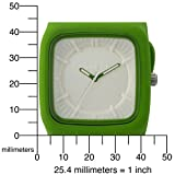 Converse Men's VR004390 Clocked Classic Analog and Grass Green Silicone Strap Watch