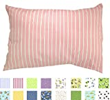 TODDLER PILLOWCASE - 100% Cotton - 200 Thread Count - Soft Percale - Envelope Style - Fits 13x19 Pillows - *PREMIUM PRODUCT Made in Virginia (Pink Stripes) Color: Pink Stripes, Model: TC-HP2, Newborn & Baby Supply