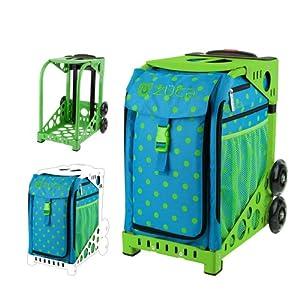 Amazon.com : Zuca Bag Orbz (Green Frame) : Ice Skating Bags : Sports
