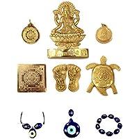 Ankita Gemstones Shri Dhan Laxmi Yantra, God Plated Laxmi Yantra - 6 Pcs Laxmi Yantra With Nazar Raksha Kavach
