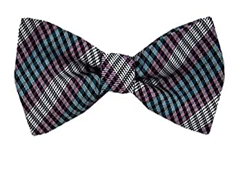 magenta teal self tie bow tie at s clothing