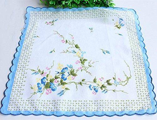 Uniquezone Vintage Floral Handkerchief Wendding Party Fabric Hanky 5