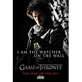 Game Of Thrones - Jon Snow Watcher On The Wall ( Silk Finish Thick Paper ) (12 X 18 Inches)
