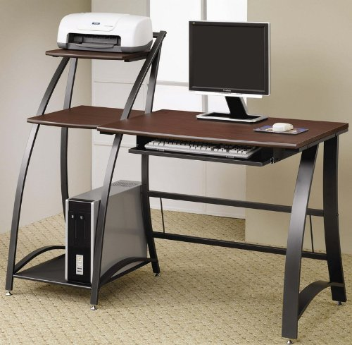 Buy Low Price Comfortable Computer Desk Work Station with Wood Top and Metal Frame (B0057POD0G)