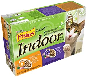 Friskies Selects Indoor Cat Food, 2-Flavor Gravy Variety Pack (Turkey & Chicken), 5.5-Ounce Cans (Pack of 24) at Sears.com