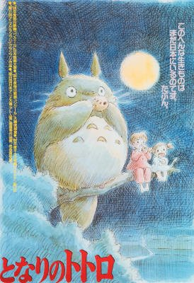 My Neighbor Totoro Japanese Text Movie Poster Print - 11x17
