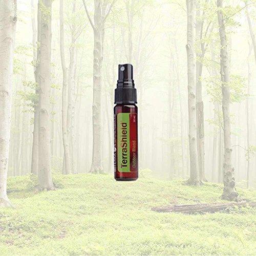 doTERRA TerraShield Outdoor Blend 30mL Sprayer With Quartz Crystal Point Bonus