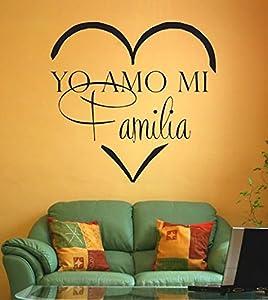 Amazon.com - Yo amo mi familia spanish vinyl wall decal