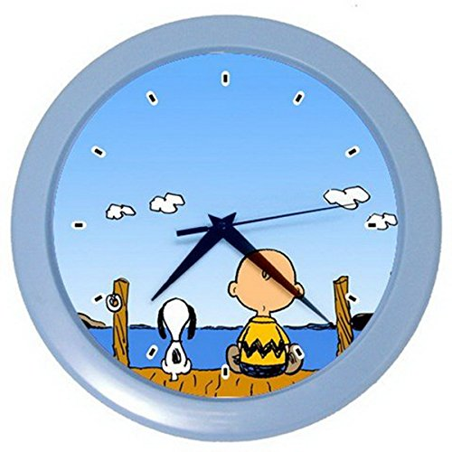 [Snoopy and Charlie Brown Sitting By the River Wall Clock] (Red Baron Baby Costume)