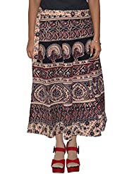 Gurukripa Shopee Women's Cotton Wrap-around Skirt (Multicolor) - B01I1DBDH6