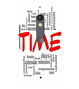 Fuson Time Quote Case Cover for Motorola Moto X play
