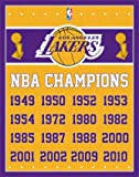 1 X Los Angeles Lakers NBA Champions Sports Poster