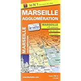Plan de ville Marseille Agglomération - Echelle : 1/15000 - Avec stations Le Vélo