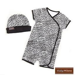 Zebra Print- Hat & Body Suit