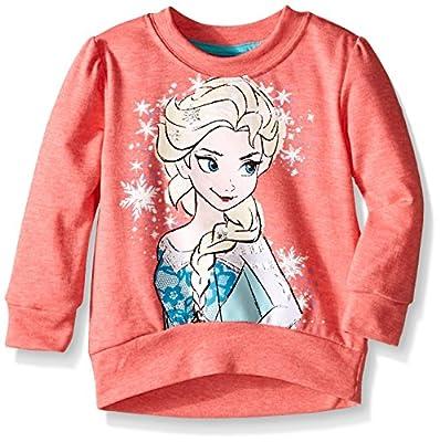 Disney Little Girls' Long Sleeve Elsa Sweatshirt