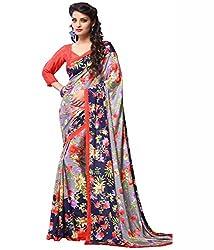 Pushkar Sarees Crepe Saree (Pushkar Sarees_9_Multi-Coloured)