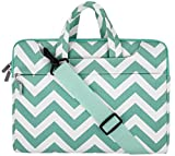 Mosiso Chevron Style Fabric Sleeve Case Cover Bag with Shoulder Strip for 15-15.6 Inch MacBook Pro, Notebook Computer, Hot Blue