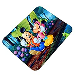 Clapcart Mickey and Minnie Mouse Design Printed Rubber Base Mat finish Mouse Pad For PC / Laptop - Multicolor