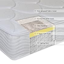 Hot Sale Sleep Master 8-Inch Tight Top Deluxe Individual Pocketed Spring Mattress, Queen